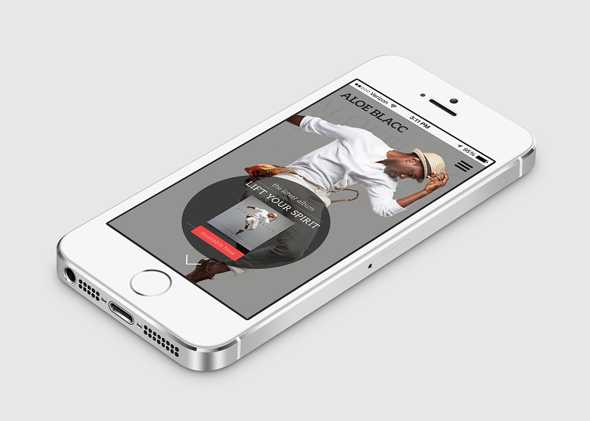 Aloe Blacc - mobile design