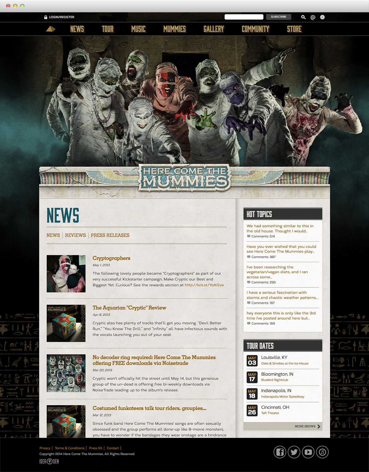 Here Come The Mummies - News