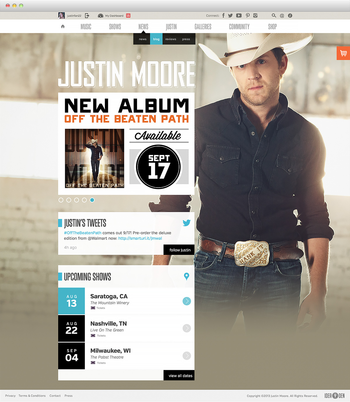Justin Moore - home
