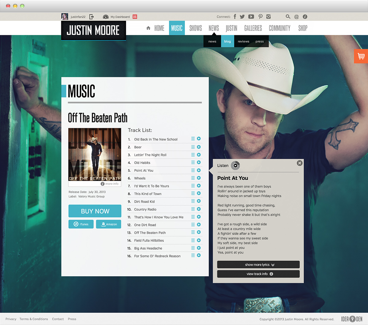 Justin Moore - Music