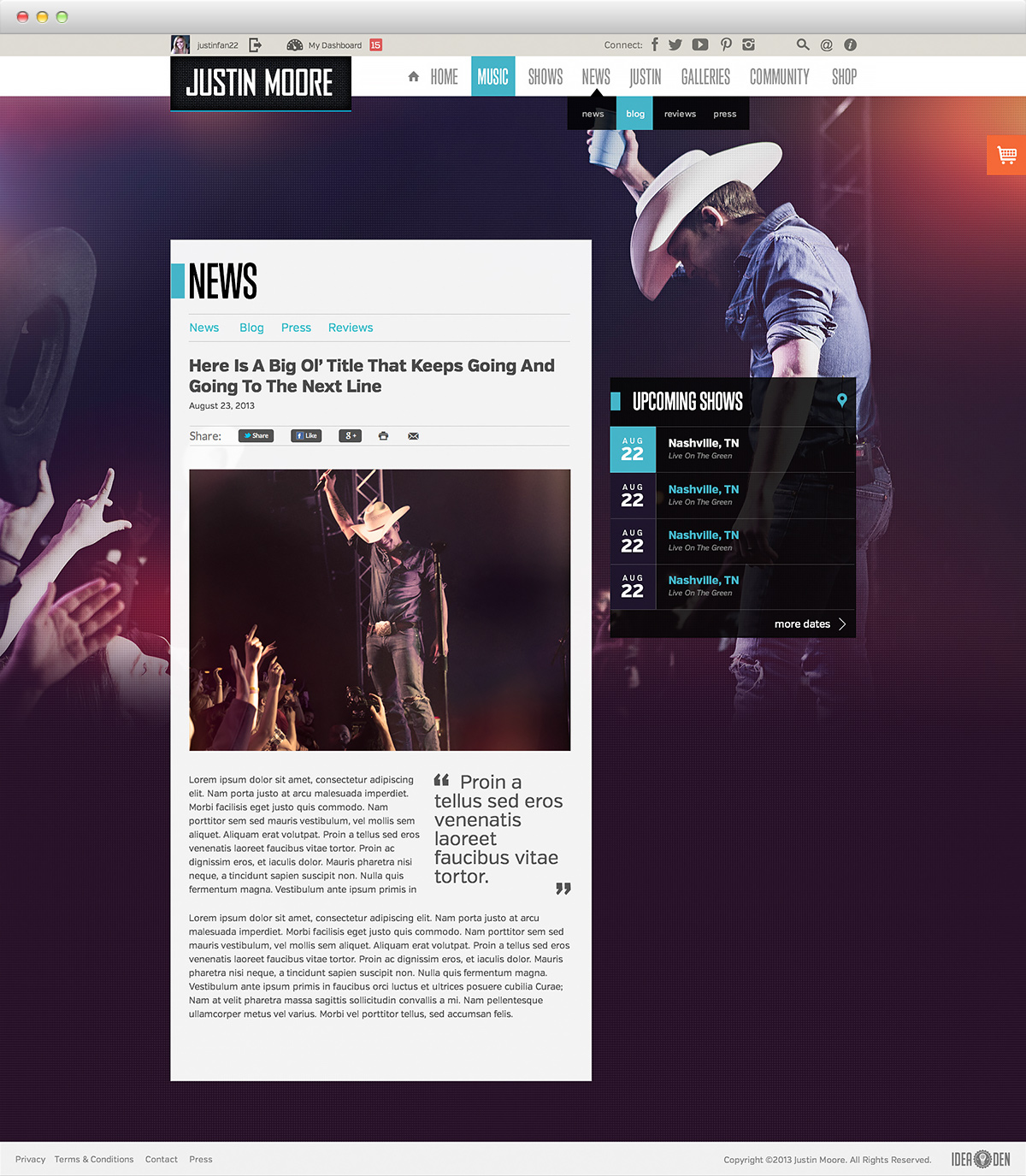 Justin Moore - News