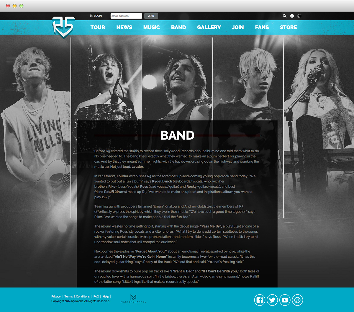 R5 - band page