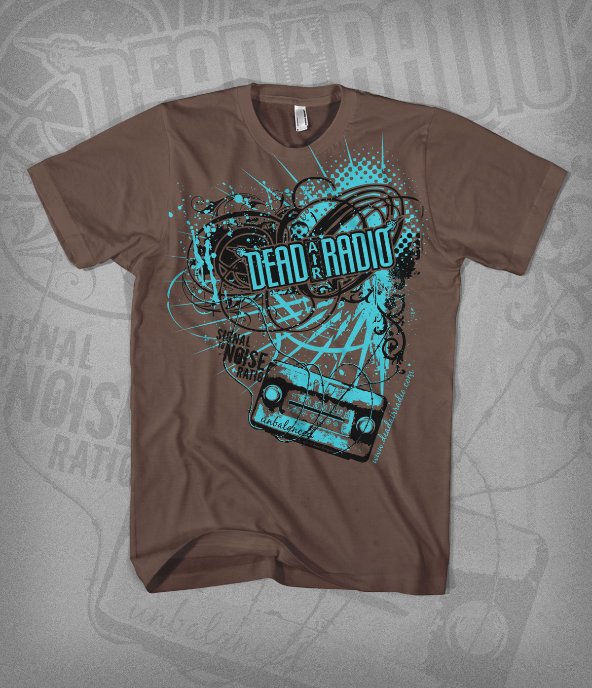 STNR tshirt design - brown