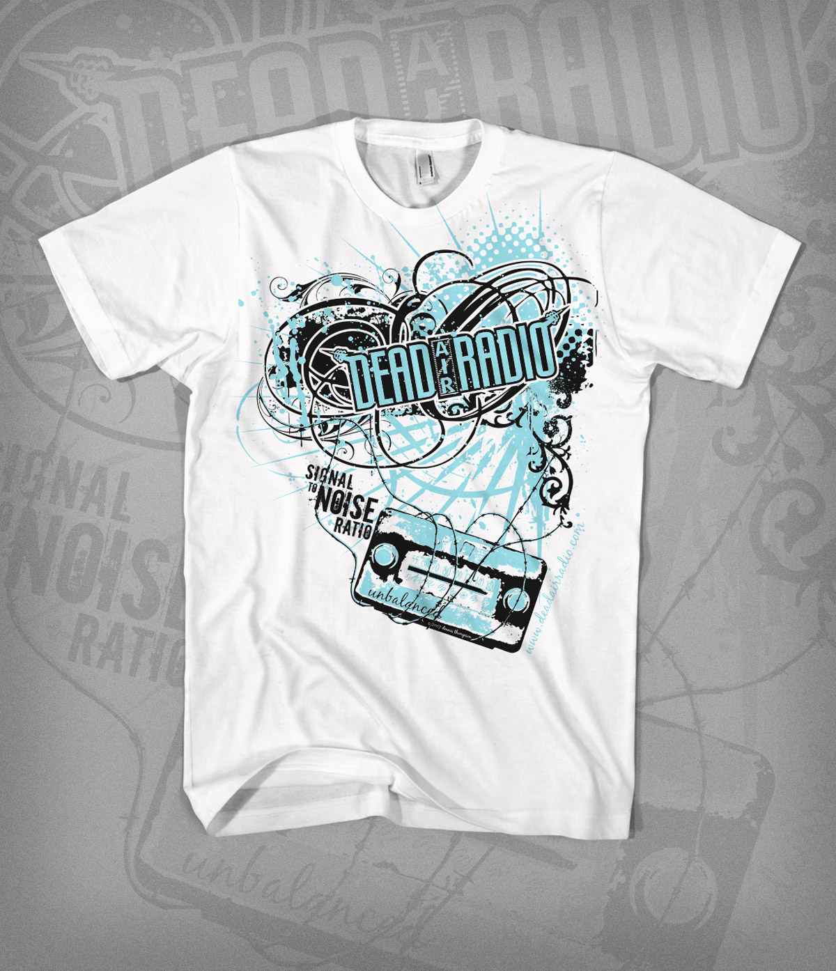 STNR tshirt design - white