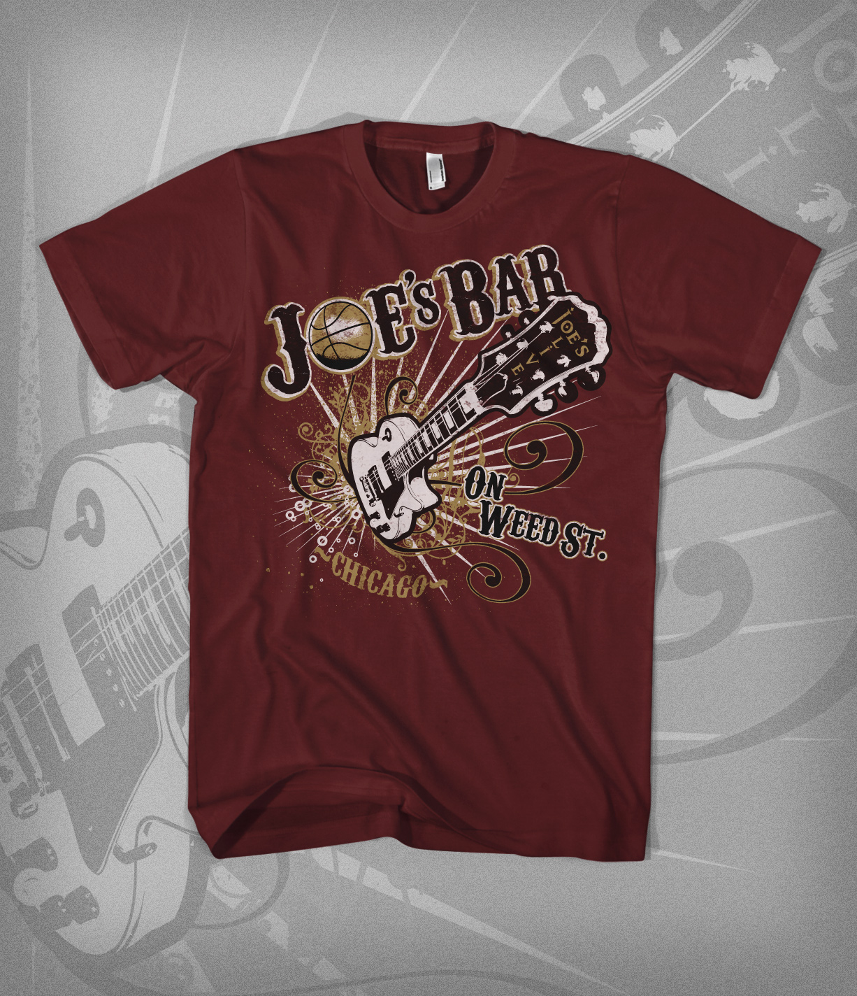 Joe's Bar - Tee design - red