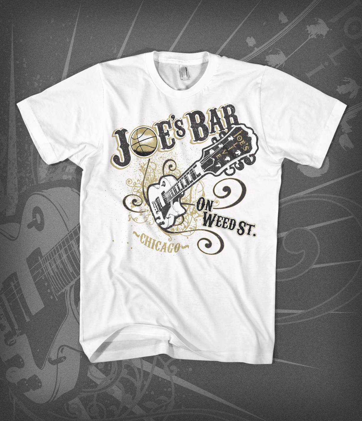 Joe's Bar - Tee design - white